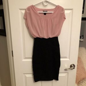Dusty pink and Black dress